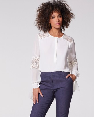 Vince Camuto Lace-trim Blouse