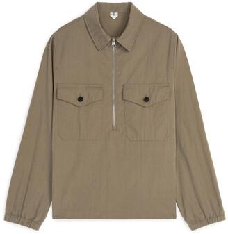 Arket Technical Half-Zip Overshirt