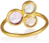 Marie Helene De Taillac Marie-Hélène de Taillac Mad Men 22-karat gold, tourmaline and amethyst ring