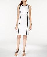 MICHAEL Michael Kors Contrast-Trim Sheath Dress
