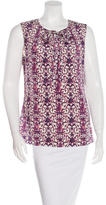 Tory Burch Sleeveless Floral-Print Top