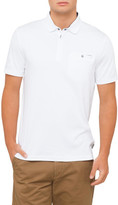 Ted Baker Plain Polo With Textured Collar
