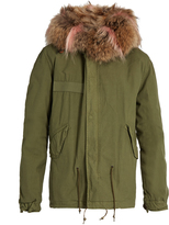 MR & MRS ITALY Fur-lined canvas mini parka