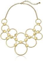 Vera Bradley Mod Elegance Ring Statement Necklace in Gold Tone