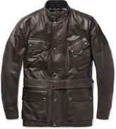 Belstaff - Panther Slim-fit Belted Leather Jacket
