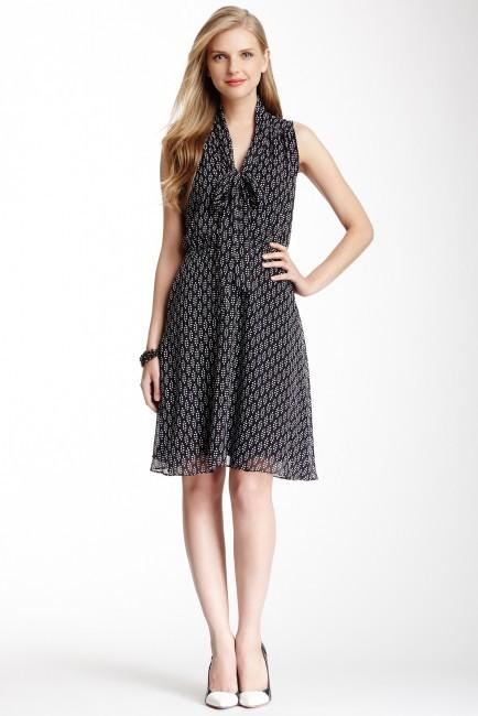 SL Fashions Printed Bow Dress