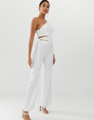 4th + Reckless jumpsuit with cut out detail and side tie
