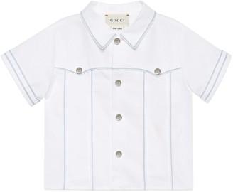 Gucci Baby cotton piquet shirt
