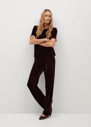 MANGO Straight velvet trousers