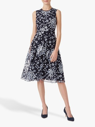 Hobbs Lilith Floral Dress, Navy