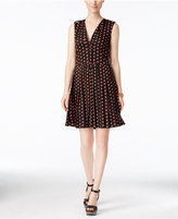 Tommy Hilfiger Dot-Print Sleeveless A-Line Dress