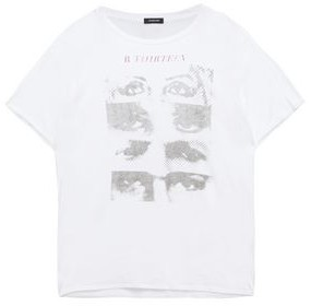R 13 Printed Cotton And Cashmere-blend Jersey T-shirt