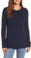 Halogen Petite Women's Lace-Up Sweater