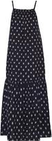 Current/Elliott Holly smocked embroidered cotton midi dress