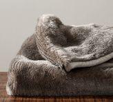Pottery Barn Faux Fur Oversized Throw - Chinchilla