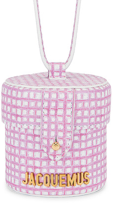 Jacquemus Le Vanity Bag in Print Pink Checked | FWRD