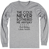 Athletic Heather Gray 'Cold Never Bothered Me Anyway' Tee - Plus