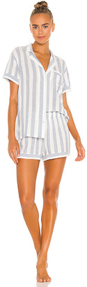 Eberjey Umbrella Stripes Woven Short PJ