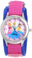 Disney Kids' W000055 Multi-Princess Stainless Steel Time Teacher Watch