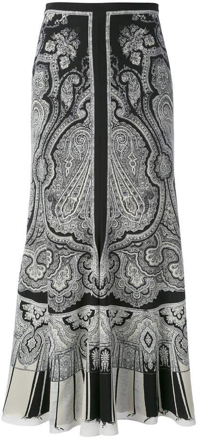 Alexander McQueen paisley skirt