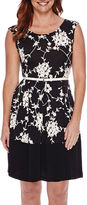 Tiana B Sleeveless Floral Fit and Flare Dress - Petite