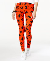 Planet Gold Juniors' Super-Soft Halloween-Print Leggings