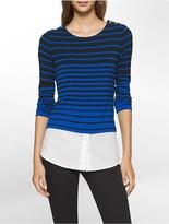 Calvin Klein Variegated Stripe Top