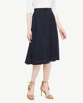 Ann Taylor Petite Textured Dot Midi Skirt