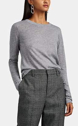 Barneys New York Women's Cashmere Jersey Long-Sleeve T-Shirt - Light Gray