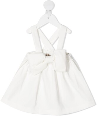 La Stupenderia Bow-Detail Pinafore Skirt
