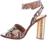Kurt Geiger Embossed Leather Sandals