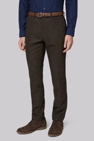 Moss Bros Slim Fit Green Donegal Pants