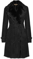 Burberry Toddingwall Shearling Trench Coat - Black