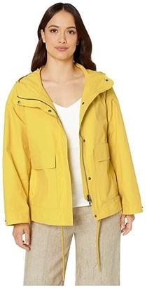 Eileen Fisher Petite Hooded Coat (Yarrow) Women's Clothing
