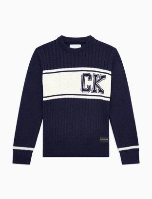 Calvin Klein Boys Colorblock Stripe Sweater