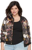 JLO by Jennifer Lopez Plus Size Floral Bomber Jacket