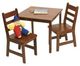 Lipper 514C Child's Square Table and 2-Chair Set
