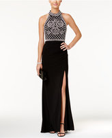 Xscape Evenings Beaded Halter Gown