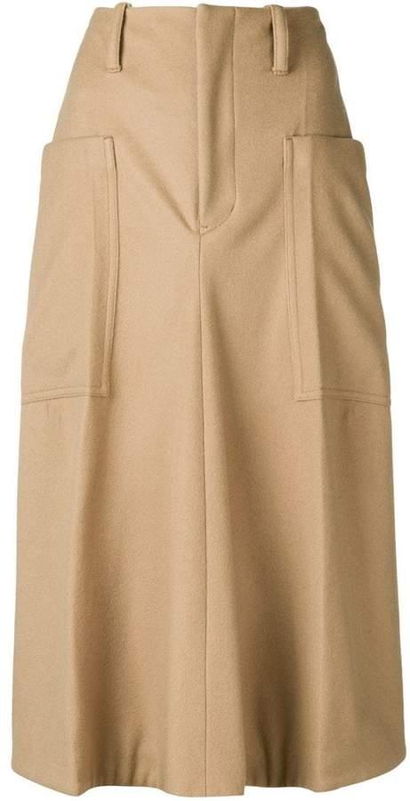 Y's flared midi skirt