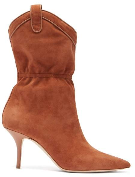 Malone Souliers Daisy Suede Ankle Boots - Womens - Tan