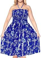 *La Leela* Maxi Petite Bathing Suit Skirt Sundress Casual Evening Party Cover up Bohemian Swimsuit Tube Dress Beach Halter Boho Spring Summer 2017
