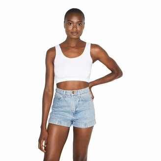 American Apparel Women's Denim High Cuff Short
