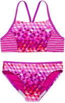 Speedo Illusion Cube Bikini Swimsuit- Girls 7-16