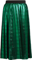 Muveil Metallic pleated skirt