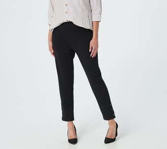Joan Rivers Classics Collection Joan Rivers Petite Signature Ankle Pants with Snap Cuffs