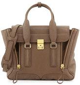 3.1 Phillip Lim Pashli Medium Zip Satchel Bag, Taupe