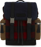 DSQUARED2 Check and denim backpack