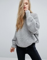 Pull&Bear High Neck Ribbed Sweater