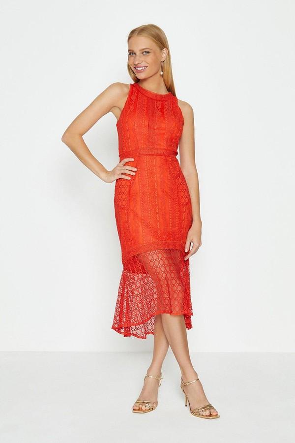 Coast High Low Hem Lace Dress