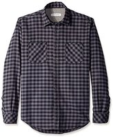 James Campbell Men's Paradigm Check Flannel Long Sleeve Shirt